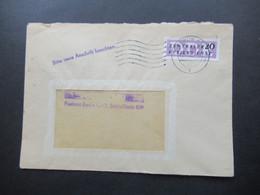DDR 1956 Dienst ZKD Nr.7 EF Maschinenstempel Berlin O 17 / Bitte Neue Anschrift Beachten - Service