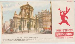 Buvard - Pain D'épices Gringoire .  Pithiviers En Gatinais (45- Loiret) N° 105 Eglise Saint Roch - Pain D'épices