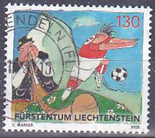 Timbre Du Liechtenstein De 2008 - Championnat D'Europe De Football Euro 08 -Tp Oblitéré - Gebruikt