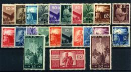 Italia Nº 481/503. Año 1945/8 - 1946-60: Nuevos