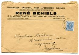 1931 Enveloppe R. Behiels Sint Niklaas Naar Haarlem Nl - Bloemen Orchideeen - Zegel Albert I   1.50 Fr - Covers & Documents
