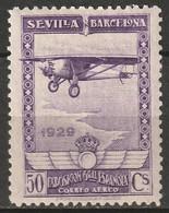 Spain 1929 Sc C9  Air Post MH* - Unused Stamps