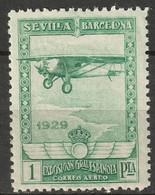 Spain 1929 Sc C10  Air Post MH* - Unused Stamps
