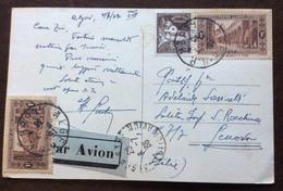 ALGERI 4/7/36  - CARTOLINA PAR AVION PER GENOVA ITALY - Mundo