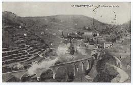 CPA 07 Ardèche Largentière Rare Arrivée Du Train Tauriers Uzer Aubenas Chassiers Laurac Vinezac Sanilhac Souche Ruoms - Largentiere