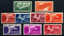 Italia (Urgente) Nº 21/2, 27/33. Año 1932/51 - Poste Exprèsse