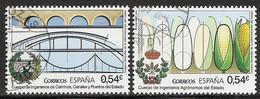2014-ED. 4893 Y 4894 Cuerpo De Ingenieros De Caminos, Canales Y Puertos Y De Agrónomos Del Estado-USADO - 2011-... Afgestempeld
