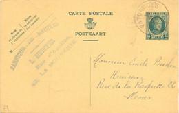 PK - CP - Briefkaart - Fabrique De Meubles Mercier , La Bouverie à Mons - Stempel Cachet Paturages 1929 - Postcards [1909-34]