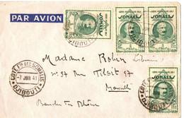 LETTRE  POUR MARSEILLE . 1941 - Storia Postale
