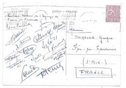 HELSINKI Souvenir De L'Equipe De France De Football En Finlande 1960. 16 Signatures Au Dos, Vincent, Colonna,Heutte  Etc - Soccer