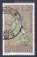 "Timbre Du Liechtenstein De 2004 - Merveilleuses Orchidées II "" Epipactis Pourpre ""  -Tp Oblitéré - Gebruikt"