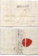 Lettre (LAC) écrite à SAINT PETERSBOURG - Cachet De NISMES Pour SAINT HIPOLITE - Cachet De Cire - Taxe (121695) - 1701-1800: Precursori XVIII
