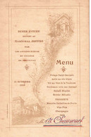 PERPIGNAN 1919 . DINER INTIME AU MARECHAL JOFFRE - Menú