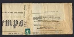 """JOURNAL """"Le Temps"""" 1915: Le Quotidien Parisien Du 9 Septembre 1915 Détaillant Le Déroulement De La 1ère Guerre Mondiale - Otros"""