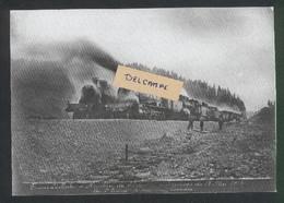 Construction Ligne Frasne-Vallorbe -2 Trains De Machines Lourdes - Epreuve Du 13 Mai 1914 - Reproduction - Non Classificati
