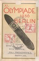 Historischer Pbarus Olympia-Plan Berlin Als Ortspost 1.8.36, Mit Firmenwerbung, Olympiamarken Und Sonderstempel - Briefe U. Dokumente