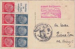 DR - LZ 130 Deutschlandfahrt Frankfurt A/M - Würzburg 6.8.39 H-Blatt 89 ! - Lettere