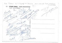 Cpsm: 92 RUEIL MALMAISON - Stade SHELL Club. Les Rémois De L'Equipe De France. 22 Signatures Au Dos (Reims,Foot Non Daté - Soccer