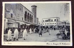 TUNISI - PLACE ET MOSQUEE  EL HALFAONINE - CARTOLINA PER FIRENZE ITALY IN DATA  17/11/40 - Mundo
