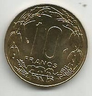 Central African States 10 Francs CFA 1983. KM#9 - Chad