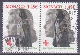 Timbre De Monaco, Tp De 2004 - Hommage à Grace Kelly N° Y.T 2427 - Tp Oblitéré En Paire - Gebruikt