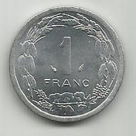 Central African States 1 Franc CFA 1978. KM#8 - Chad