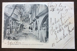 LE VIEUX PARIS  LES ECHOPPES DE LA RUE DU REMPART - AUTOGRAFA DI JOSEPHINE GONZAGA X ANNA MARIA BORGHESE - 25/9/1900 - Mundo