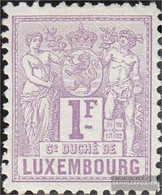 Luxembourg 55A With Hinge 1882 Alegorie - 1882 Allegorie