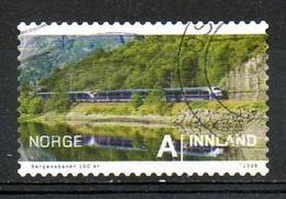 NORVEGE. Timbre Oblitéré De 2009. Train. - Eisenbahnen