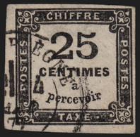 France Taxe N°5, 25c Noir, Oblitéré - TB - COTE 65 € - 1859-1955 Usati