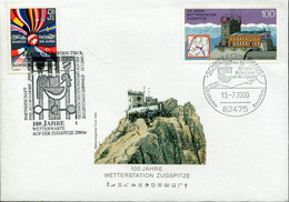 Germany Austria Special Cover - Weather Station - Protezione Dell'Ambiente & Clima