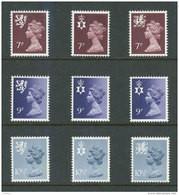 GRANDE-BRETAGNE - 1978 - REGIONAUX - NEUFS ** LUXE/MNH - Yvert # 846/854 - Série Complète 9 Valeurs - Non Classés