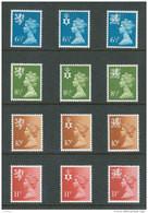 GRANDE-BRETAGNE - 1976 - REGIONAUX - NEUFS ** LUXE/MNH - Yvert # 774/779 + 807/812 - 2 Séries Complètes 12 Valeurs - Non Classés