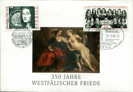 Germany Sweden Special Cover - Peace Treaty 1638, 30-year-war - Militaria