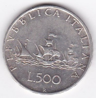 ITALIA REPUBBLICA . 500 LIRE 1960. CARAVELLE . ARGENT - 500 Lire