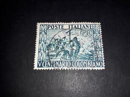"""ITAMIX31 REPUBBLICA ITALIANA 1951 5'' CENTENARIO NASCITA DI COLOMBO """"XO"""" - 1946-60: Usados"""
