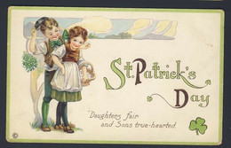 St Patrick's Day - Boy Girl - Daughters Fair And Sons True-hearted Embossed - Saint-Patrick's Day