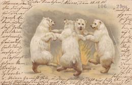 """POLOGNE. CPA. BRESLAU( A DESTINATION DE). ILLUSTRATION. """" DANSE DES OURS """" . ANNEE 1901 + TEXTE - Poland"""