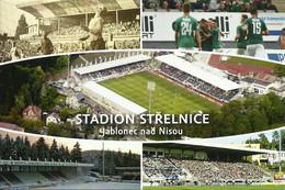 STADIUM POSTCARD ESTADIO STADION STADE STADIO CAMPO DE FUTBOL JABLONEC - Stadi