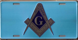 USA Metal Wallplate 'Freemasonery Symbols' - Masonic Tools - New & Sealed - Plaques En Tôle (après 1960)