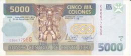 BILLETE DE COSTA RICA DE 5000 COLONES AÑO 1999 SERIE C  (BANKNOTE) - Costa Rica
