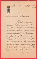 LETTRE SIGNEE PAR LA ROI DE SUEDE ET DE NORVEGE OSCAR II STOCKHOLM 1882 SWEDEN NORWAY KING - Storia Postale