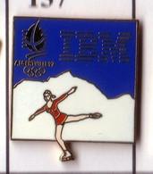 CC170 Pin's Albertville Jeux Olympiques IBM PATINEUSE PATINAGE Achat Immédiat - Informatica