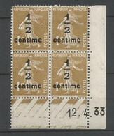 Coins Datés De France Neuf *  N 279 A  Année 1933  Charnière En Haut - ....-1929