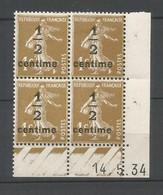 Coins Datés De France Neuf *  N 279 A  Année 1934  Charnière En Haut - ....-1929