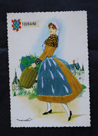 * - Carte Brodée Costume De Touraine - Borduurwerk