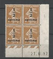 Coins Datés De France Neuf *  N 279 B  Année 1937  Charnière En Haut - 1930-1939