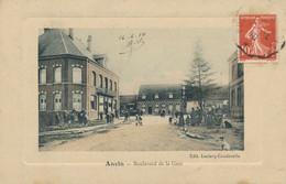 62) ANVIN : Boulevard De La Gare (1910)  (EB) - Other Municipalities