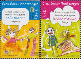 Montenegro 220-221 (complete Issue) Unmounted Mint / Never Hinged 2009 Children's Meeting Joy Europe - Montenegro
