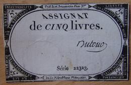 Assignat - 5 Livres FRANCE 1793 Signé DUTOUR - Assignats